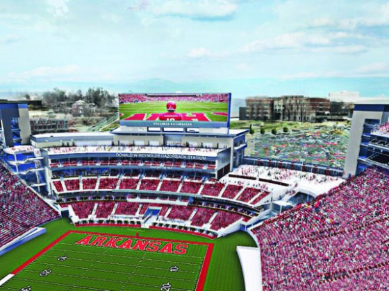 A New Game Day Experience: North End Zone Ready for the Razorbacks